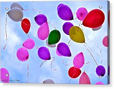 Celebrate Acrylic Print by Tara Potts