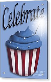 Celebrate The 4th / Blue Acrylic Print by Catherine Holman