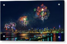 Celebration Of Independence Day In Nyc Acrylic Print