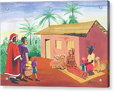 Celebration Of The Nativity In Cameroon Acrylic Print by Emmanuel Baliyanga