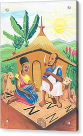 Celebration Of The Nativity In Rwanda Acrylic Print by Emmanuel Baliyanga