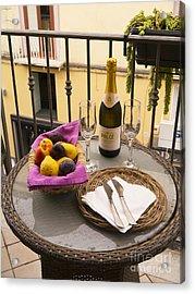 Celebration On An Italian Balcony Acrylic Print by Brenda Kean