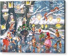 Celebration On Ice Acrylic Print