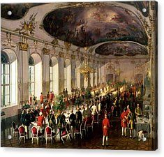 Celebration On The Occasion Of The Anniversary Of The Military Order Of Maria Theresa, 1861 Acrylic Print by Siegmund L'Allemand
