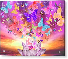 Celestial Butterfly Acrylic Print by Alixandra Mullins