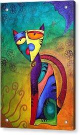 Celestial Cat Acrylic Print by Laura Barbosa