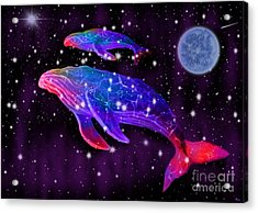 Celestial Whales Acrylic Print by Nick Gustafson