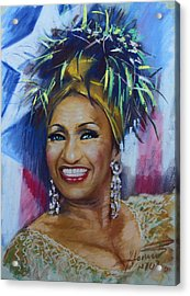 Celia Cruz Acrylic Print by Viola El