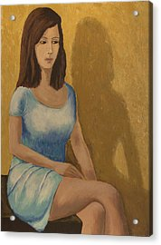 Acrylic Print featuring the painting Celina by Clarence Major
