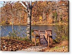 Celina Lake Path Acrylic Print