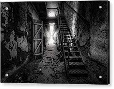 Cell Block - Historic Ruins - Penitentiary - Gary Heller Acrylic Print by Gary Heller