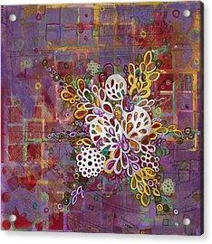 Cell No.16 Acrylic Print by Angela Canada-Hopkins