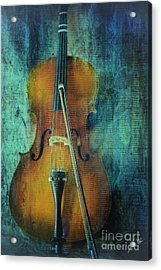 Cello  Acrylic Print by Erika Weber