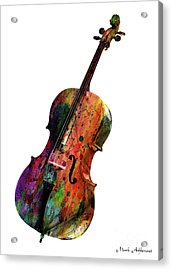 Cello Acrylic Print by Mark Ashkenazi