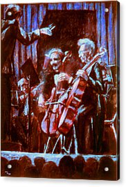 Cello_concerto_sketch Acrylic Print by Dan Terry