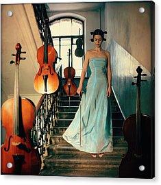 Cellos Acrylic Print by Anka Zhuravleva