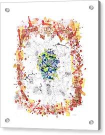 Cellular Generation Acrylic Print by Regina Valluzzi