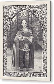 Celtic Bard Acrylic Print by Tania Crossingham