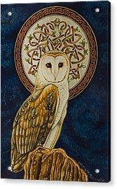 Celtic Barn Owl Acrylic Print