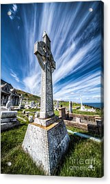 Celtic Cross Acrylic Print by Adrian Evans