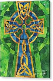 Celtic Cross Acrylic Print by Mark Jennings