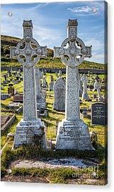 Celtic Crosses Acrylic Print by Adrian Evans