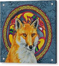 Celtic Fox Acrylic Print by Beth Clark-McDonal