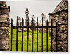 Celtic Graveyard Acrylic Print by Craig Brown