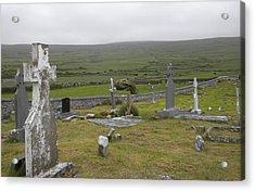 Celtic Graveyard Acrylic Print by Teresa Tilley