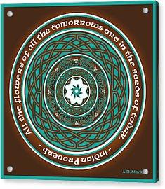 Celtic Lotus Mandala Acrylic Print