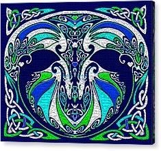 Celtic Love Dragons Acrylic Print by Michele Avanti