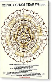 Celtic Ogham Year Wheel Acrylic Print