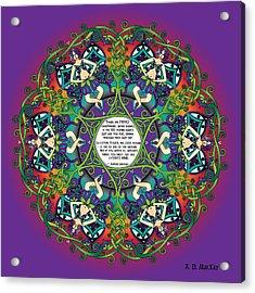 Celtic Spring Fairy Mandala Acrylic Print