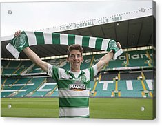 Celtic Unveil New 4-year Signing Ryan Christie Acrylic Print by Jeff Holmes