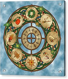 Celtic Wheel Of The Year Acrylic Print