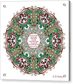 Celtic Winter Fairy Mandala Acrylic Print