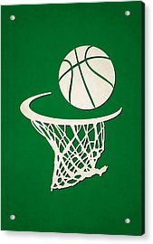 Celtics Team Hoop2 Acrylic Print by Joe Hamilton