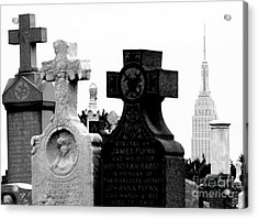 Cemetery City Acrylic Print