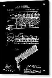Cemetery Coffin Patent Acrylic Print