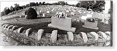 Cemetery  Fayettville Tennessee Acrylic Print by   Joe Beasley
