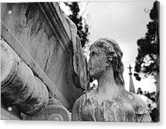 Cemetery Gentlewoman Acrylic Print by Jennifer Ancker