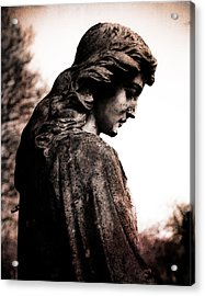 Cemetery Grief Acrylic Print by Sonja Quintero