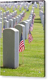 Cemetery Memorial Day Acrylic Print
