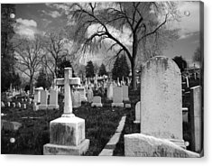 Cemetery Solitude Acrylic Print by Jennifer Ancker
