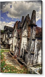 Cemetery Tomb New Orleans Acrylic Print by Timothy Lowry