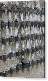 Cemetery Wall With Names Of Holocaust Acrylic Print by Panoramic Images