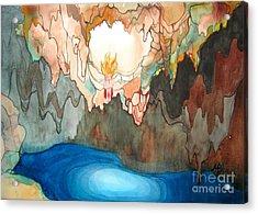 Cenote Acrylic Print by Maya Simonson