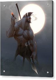 Centaur Acrylic Print by Adam Ford