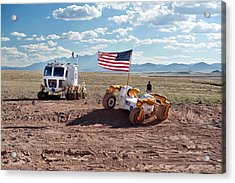 Centaur Robonaut Rover Testing Acrylic Print by Nasa-johnson Space Center