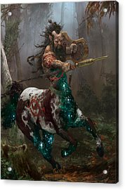 Centaur Token Acrylic Print by Ryan Barger